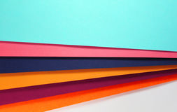 Color papers background. Close up photo Stock Photo