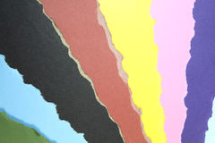 Color papers background. Disorganized ripped  Color papers background Royalty Free Stock Photos