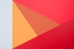 Color papers geometry flat composition background with pink,red, Royalty Free Stock Images