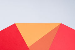Color papers geometry flat composition background with pink,red, Stock Photos