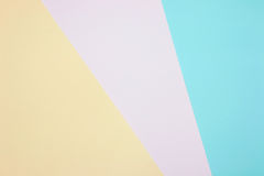 Color papers geometry flat composition background Royalty Free Stock Photo