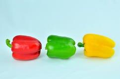 3color paprika Royalty-vrije Stock Afbeeldingen