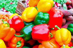 Color paprika market Stock Photo