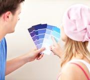 color par som rymmer bakre prövkopiasikt Arkivbilder