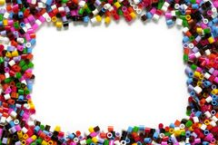 Color particles frame. Color plastic particles frame background for photograph Stock Photos
