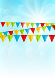 Color party flags Royalty Free Stock Photography