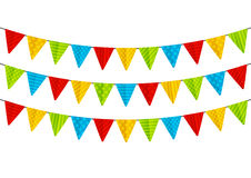 Color party flags Stock Photos