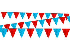 Color party flags isolated Stock Photography