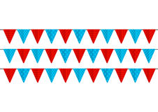Color party flags isolated Stock Image