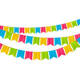 Color party flags Stock Photo