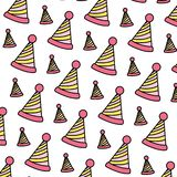 Color party hat line decoration background vector illustration