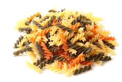 Color pasta. On a white background Royalty Free Stock Image