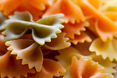 Color pasta background Stock Images