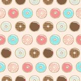 Color pastel Donuts Seamless Pattern stock illustration