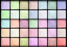 Color pastel eyeshadows as background Royalty Free Stock Images