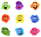 Color patches with emotional faces Stock Image