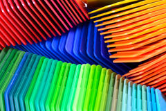 Color pattern. Dyed color samples for plastic injection moulding Royalty Free Stock Photos