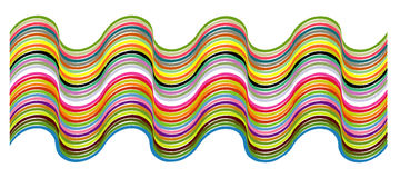 Color pattern. Color arch designed in illustrator Stock Photography