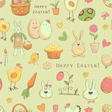 Color pattern of elements Collection of Easter Royalty Free Stock Photos