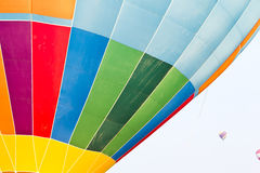 Color pattern of hot air balloon Stock Image