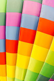 Color pattern of hot air balloon Stock Photography