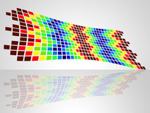 Color Pattern Indicates Decorative Squares And Blocks Stock Image