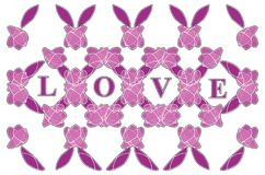 Color pattern - love vector background Stock Images