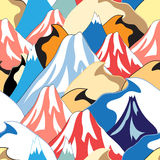 Color pattern of the mountains Royalty Free Stock Image
