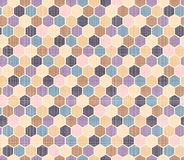 Color pattern of polygons. Stock Photography