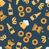 Color pattern with snacks and beer. Simple vector illustration with ability to change vector illustration