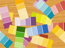 Color pattern strips Stock Photo