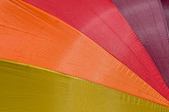 Color pattern of an umbrella Stock Images