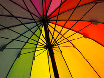 Color pattern of an umbrella. Colorful pattern of an umbrella Royalty Free Stock Photos