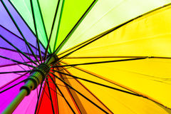Color pattern of an umbrella. Rainbow Color pattern of the umbrella Stock Photo