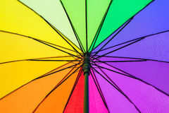 Color pattern of an umbrella. Color pattern of the rainbow umbrella Royalty Free Stock Photo