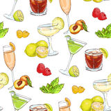 Color pattern unforgettables cocktails Stock Photography