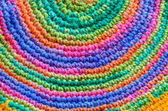 Color pattern of woolen yarn Royalty Free Stock Images