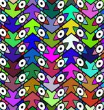 Color patterned background eye Stock Photos