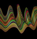 Color patterned image of waves Royalty Free Stock Photo