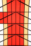 Color patterns on a glass roof Royalty Free Stock Image