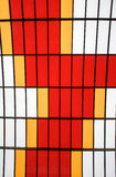 Color patterns on a glass roof Stock Photography