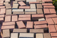 Color paving slabs Royalty Free Stock Photo