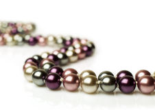 Color pearl necklace Royalty Free Stock Photography