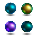 Color pearls. Royalty Free Stock Image
