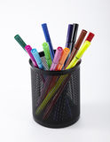 Color pen, pen holder inside Stock Photography