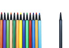 Color pen set : Alone Royalty Free Stock Photo