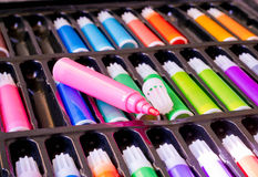 Color pen set Royalty Free Stock Image