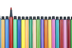 Color pen set : Differance Royalty Free Stock Images