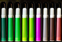 Color pen set Stock Photography
