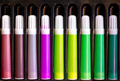 Color pen set Royalty Free Stock Images
